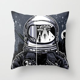 I Hate Aliens Throw Pillow