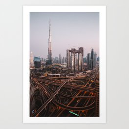 Dubai Skyline at Night | Travel Photography | Art Print