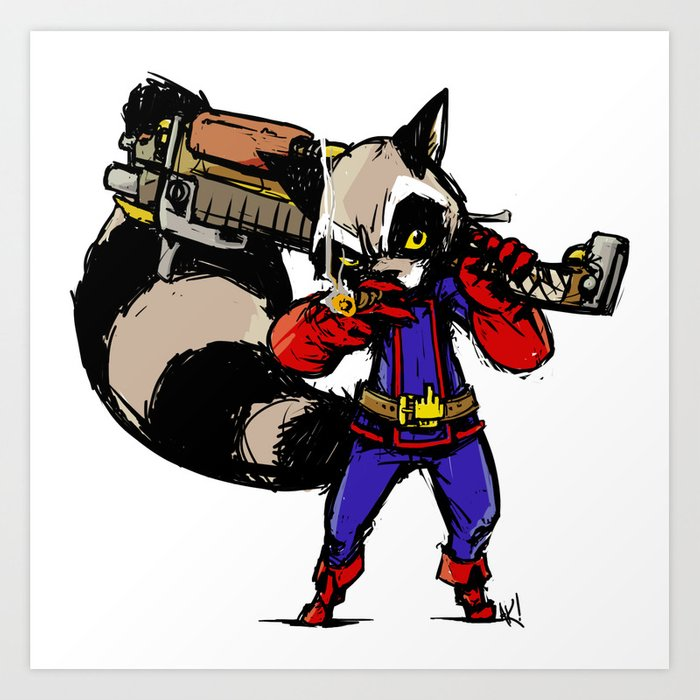 Rocket Raccoon Art Print