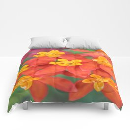 Succulent Red and Yellow Flower II Comforters
