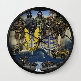 He Who Dares Wall Clock