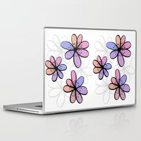 cherry blossoms Laptop & iPad Skins featuring Cherry Blossoms by Kara Peters