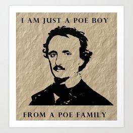 Poe Boy Art Print