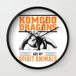 Komodo Dragon Spirit Animal Komodo Wall Clock