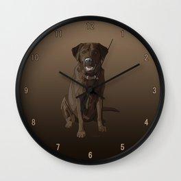 Chocolate Labrador Retriever Brown Dog Wall Clock