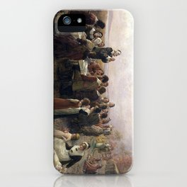 First Thanksgiving Vintage Painting iPhone Case