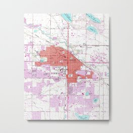 Vintage Map of Fort Collins Colorado (1960) Metal Print