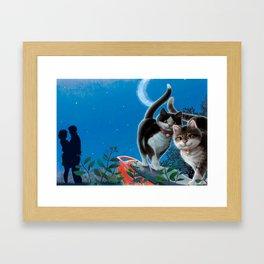 "Mosky Cat ""First love"" Framed Art Print"
