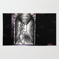 dia de los muertos Area & Throw Rugs featuring Dia De Los Muertos  by sparkplug95