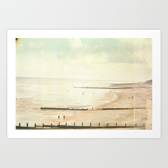 Not so vintage beach... Art Print