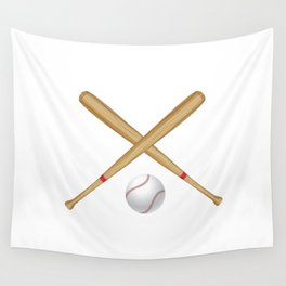 Baseball Bat and Ball Wall Tapestry