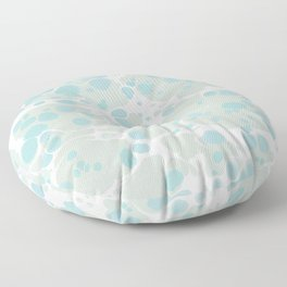 Soft Pastel turquoise and mint green spilled paint bubbles effect Floor Pillow
