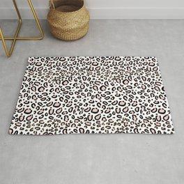 Leopard print rose quartz pantone color minimal animal print cute children pattern cheetah spots  Rug