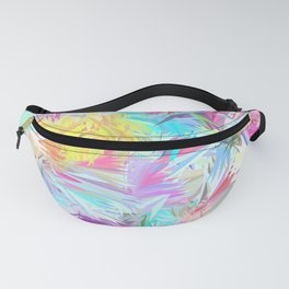 Pastel Abstract Leaves Design Fanny Pack