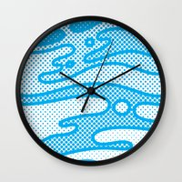 camo Wall Clocks featuring Pop Camo by Joe Van Wetering
