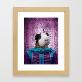 Bollywood Purple Guinea Pig  Framed Art Print
