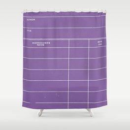 Library Card BSS 28 Negative Purple Shower Curtain