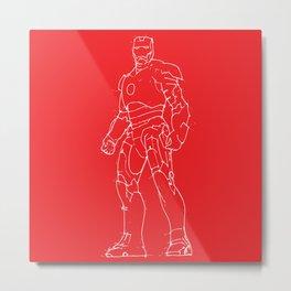 Iron man red background Metal Print