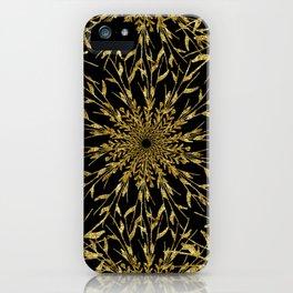 Black Gold Glam Nature iPhone Case