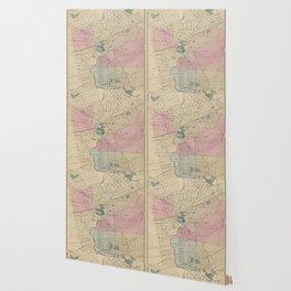 Vintage Map of Elizabeth New Jersey (1872) Wallpaper