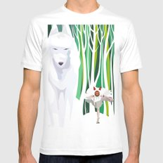 Princess Mononoke White MEDIUM Mens Fitted Tee