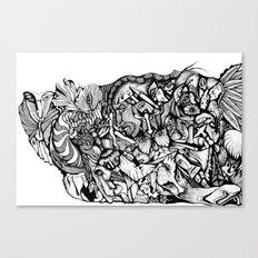 Inking Canvas Print