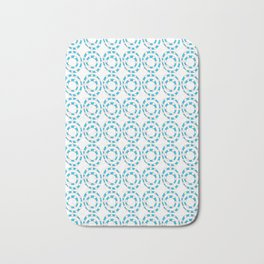Circle and abstraction 8- blue abstract,geometric,geometrical,circle,sphere Bath Mat