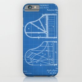 Steinway Grand Piano Patent - Piano Player Art - Blueprint iPhone Case
