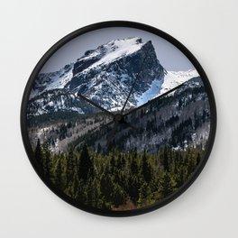Hallett Peak, Colorado Travel Illustration Wall Clock