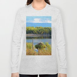 Mount Albert, Lac Neuf and the Beaver Lodge Long Sleeve T-shirt