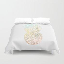 Ombre Gold Pineapple  Duvet Cover