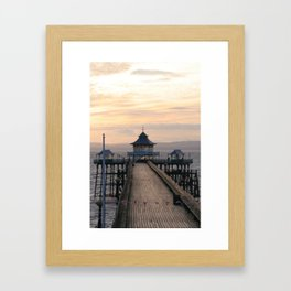 To the End of the Pier Framed Art Print