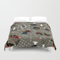 science Duvet Covers featuring Science Fair by beach please