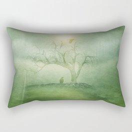 Greenery Sunrise Rectangular Pillow