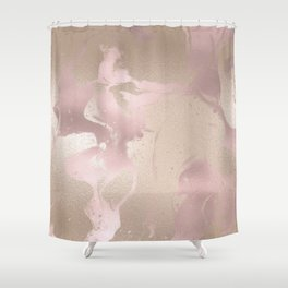 Rosegold & Gold Shower Curtain
