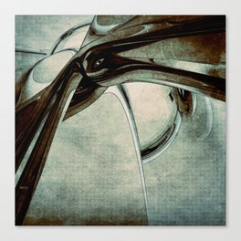 Abstract Blue Form Canvas Print