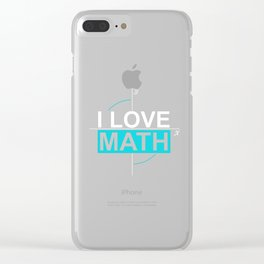 Math Science Shirt I love Math with the 2 axes Clear iPhone Case