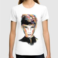 audrey hepburn T-shirts featuring Audrey Hepburn by caffeboy