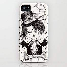 Mr.Darkness iPhone Case