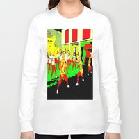 workout Long Sleeve T-shirts featuring Workout by lookiz