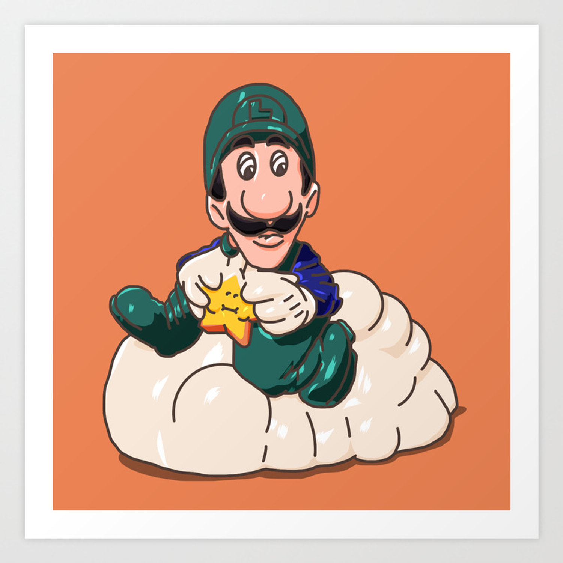Luigi Super Mario Bros 3 1989 Happy Meal Toy Art Print By