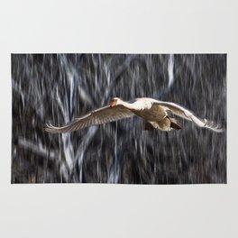Swan in Flight Rug