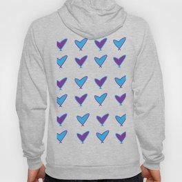 Purple/Blue Hearts Hoody