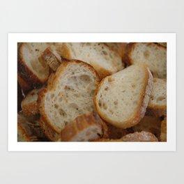 Artisan Bread Slices Art Print