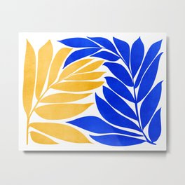 Stay Together / Colorful Plant Illustration Metal Print