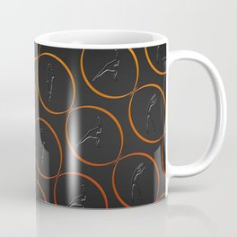 Pattern with sport shapes and orange circles Coffee Mug