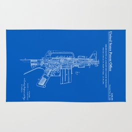 AR-15 Semi-Automatic Rifle Patent -Blueprint Rug