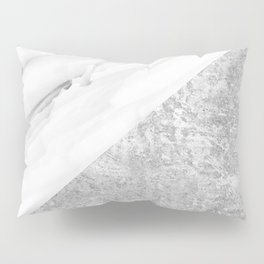 Grey / White Marble Pillow Sham