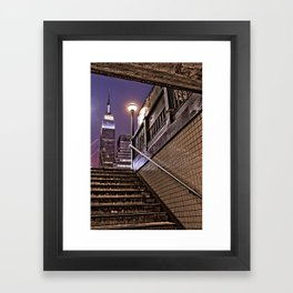 Empire State Subway - New York Photography Framed Art Print