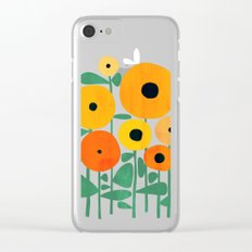 Sunflower and Bee Clear iPhone Case